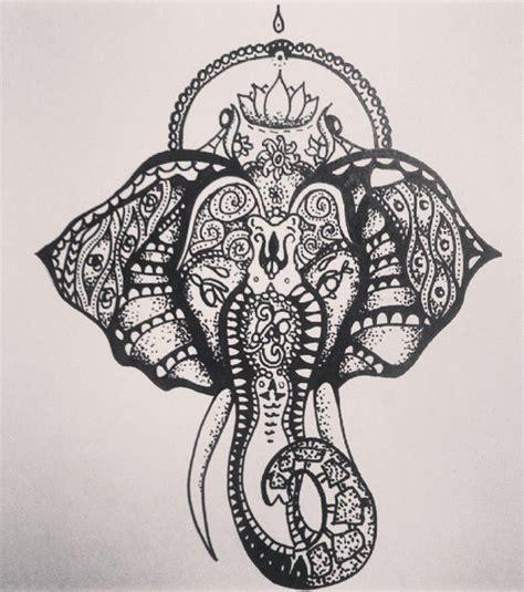 Photo  Dessin Tatouage, éléphant Inspiration Mandala
