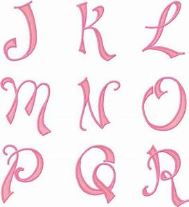 Looking Pretty - Monogram font 28