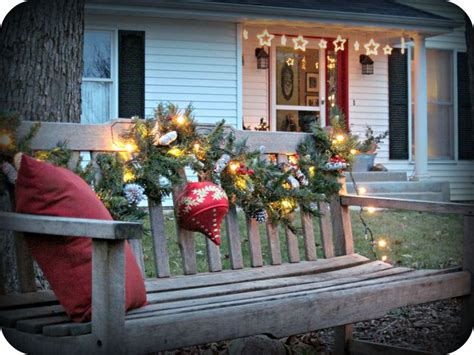 images  christmas bench  pinterest