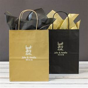 Personalized gift bags wedding gift bags personalized for Personalized wedding gift bags