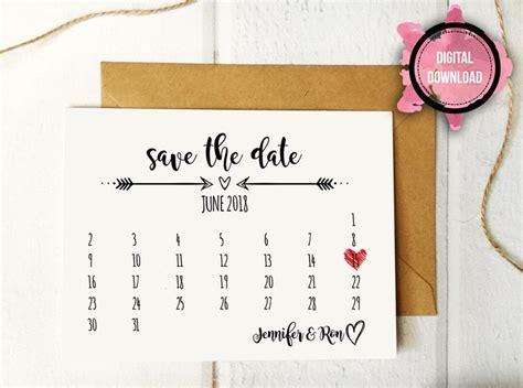 rustic save  date template  wedding calendar