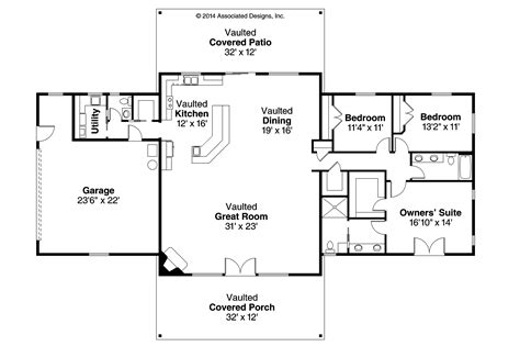 ranch floor plan gallery for gt ranch house plans