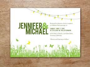 einladung hochzeit vorlage garden wedding invitation template