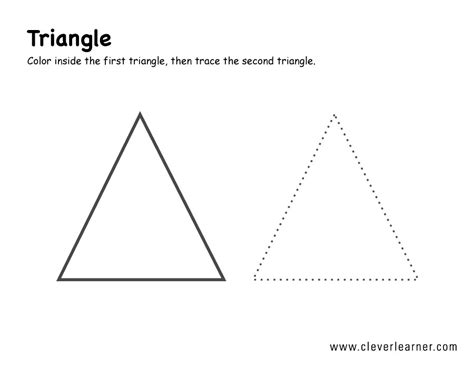 triangle academy preschool shapes recognition practice wor 564 | triangle shape activity 1