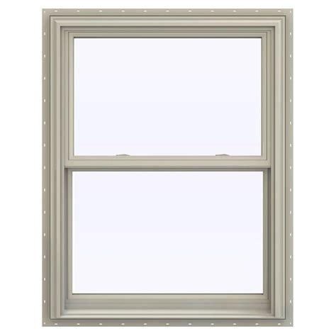 jeld wen        series double hung vinyl window tan thdjw