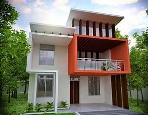 Modern House - Front Elevation