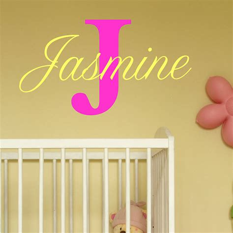 Baby Girl Name Wall Decals - Elitflat