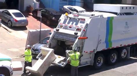incredible garbage truck san francisco recology youtube