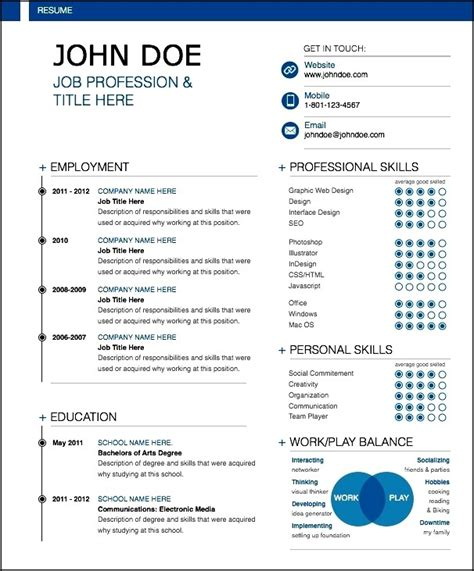 exle of modern resume uxhandy