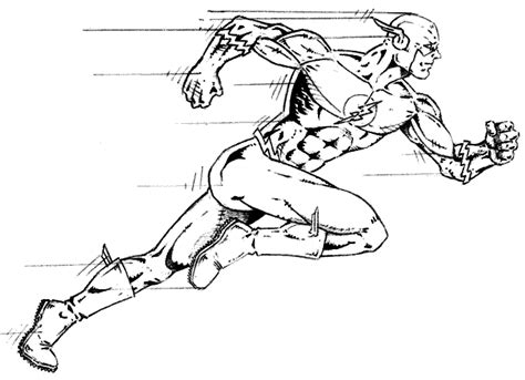 running superhero  flash coloring pages  kids boys