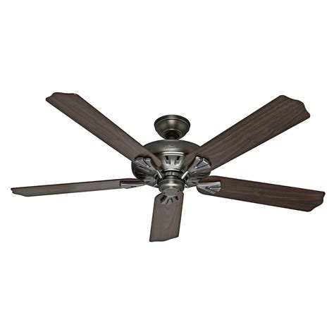 Flush Mount Ceiling Fans With Remote by Shop The Royal Oak 60 In Antique Pewter Downrod Or