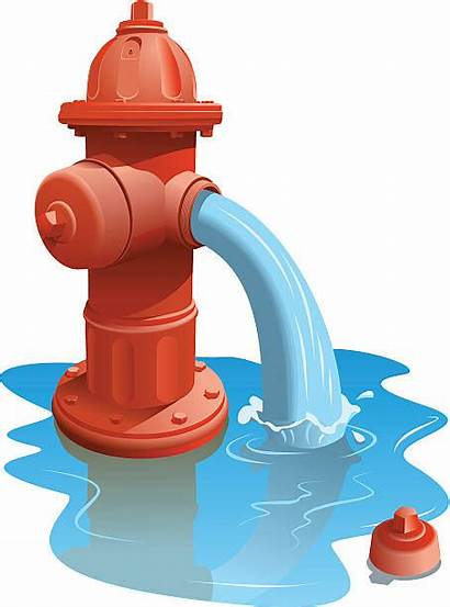 Clipart Water Gushing Fire Clip Hydrant Royalty