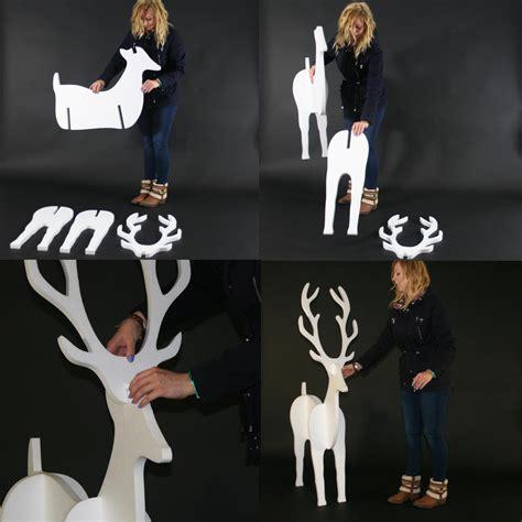 christmas display reindeer giant medium and small