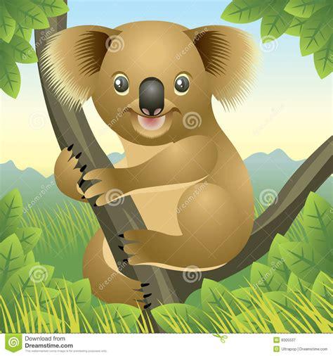 baby animal collection koala stock vector image