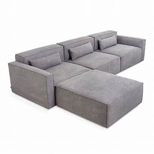 gus modern mix modular 4 piece sectional eurway With 4 piece modular sectional sofa