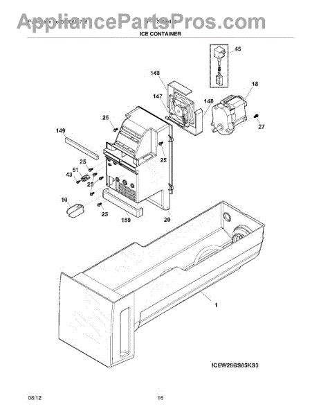 Parts For Frigidaire Fphfmf Ice Container