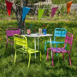 Table Et Chaise Jardin : salon jardin children pour enfant table et 4 chaises oogarden france ~ Teatrodelosmanantiales.com Idées de Décoration