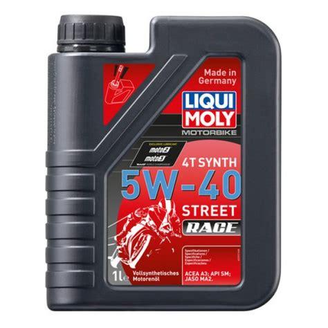 liqui moly 5w40 liqui moly 4t race synthetic riders choice