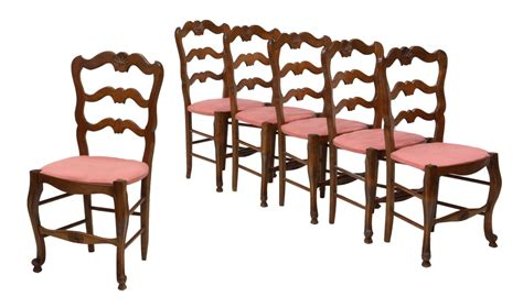 6 country ladder back dining chairs jo