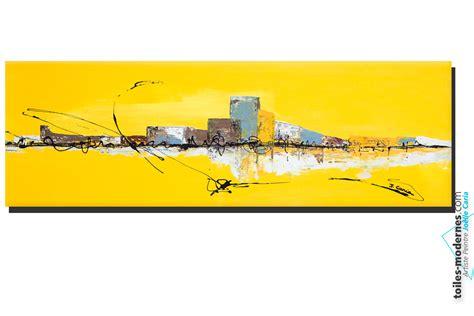 couleur pour bureau tableau jaune grand format panoramique abstrait