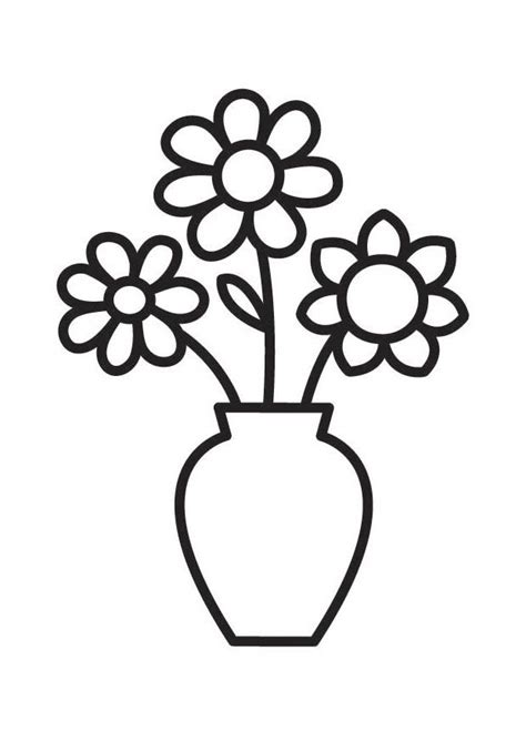 Vase Color by Flowers Coloring Pages Flower Vase Coloring Pages