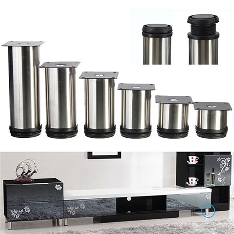 stainless steel legs for kitchen cabinets 4 pcs cabinet metal legs adjustable stainless steel 9414