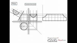 Engineering Drawing Tutorials  Surface Development With Front View  U0026 Side View  T 8 1