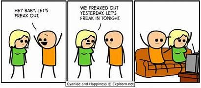 Happiness Cyanide Explosm Comics Freakout Freaking Freak