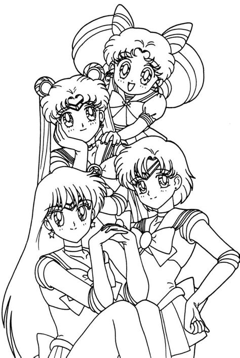 Anime Coloring Pages Sailor moon coloring pages Moon