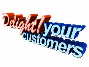 Delight your customers stock illustration. Illustration of ...