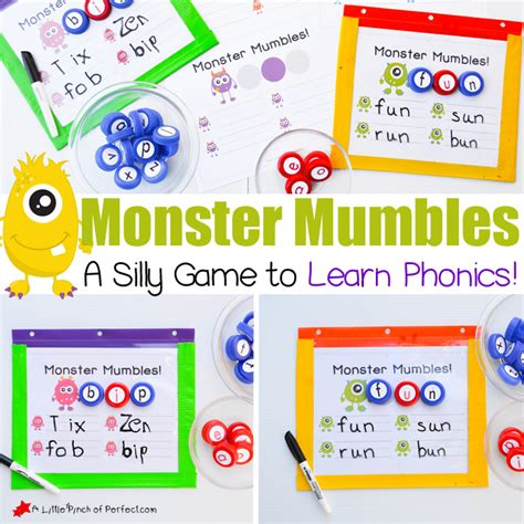 Monster Mumbles Phonics Game And Free Printable To Make Learning Fun