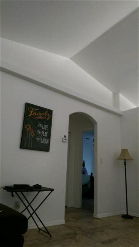 paint vaulted ceiling shelves  walls
