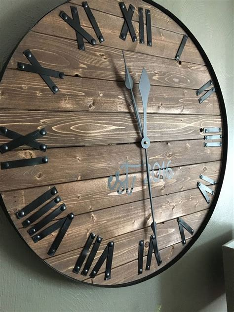large farmhouse wooden wall clock modern farmhouse