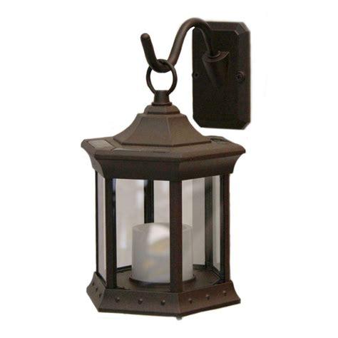 solar lantern lights sconce hook clear glass solar lantern sl stcg the home depot
