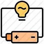 Circuit Icon Electronic Battery Lamp Premium Electrical