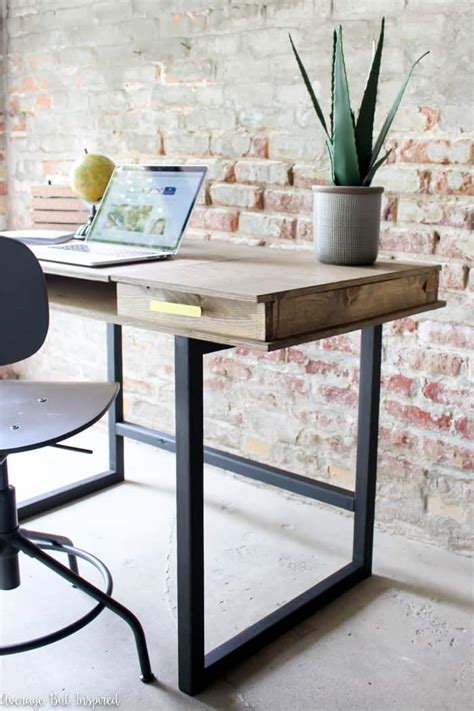 diy modern desk  beginner woodworking project