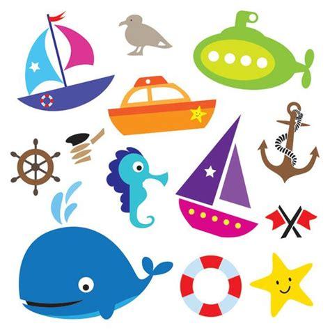 Imagenes De Barcos Para Baby Shower by Nautical Sea Design Elements Transportation Digital Clip