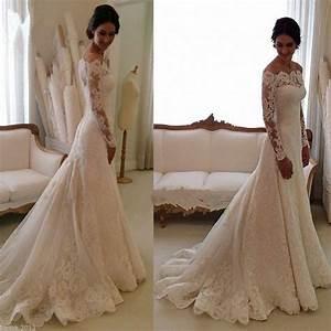 White  Ivory Mermaid Bridal Gown Wedding Dress Custom Size