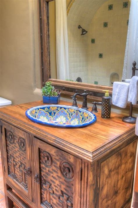Mexican Bathroom Ideas by Handpainted Mexican Sinks Guest Bathroom Ideas