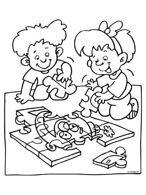 Puzzel Kleurplaat www kleurplaten nl voor iedereen die graag kleurt is