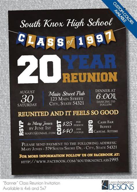chalkboard banner class reunion invitation digital file