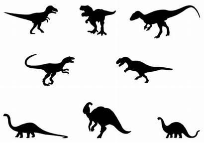 Dinosaur Silhouette Clipart Vector Rex Clip Siloutte