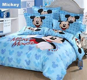 hello mickey mouse cotton full queen size bedding boys and