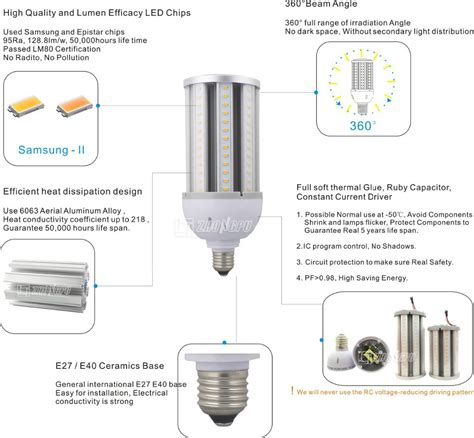 mercury vapor led replacement with 27w bulb e27 128lm w