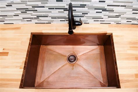 undermount sink vs top mount undermount vs overmount kitchen sinks world copper smith