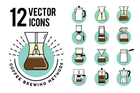 Coffe Brewing Methods. Icons Set On Behance Bosch Coffee Machine Alexa The Bean And Tea Leaf Bulacan Jobstreet Contact Number Twitter Germany Built In Manual Ortigas Park