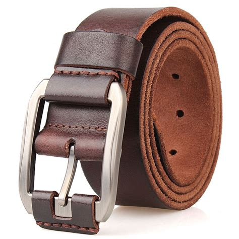 Thick Cowhide Leather by Designer Belt Luxury 100 Real Grain Thick Cowhide