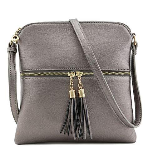 SG SUGU Lightweight Medium Crossbody Bag with Tassel and ...