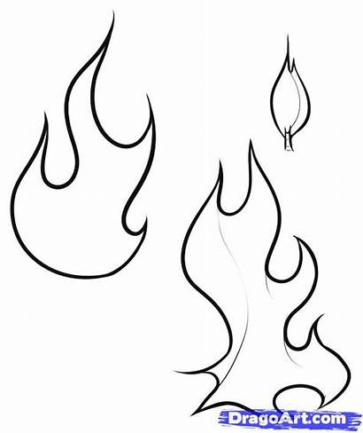 Flames Flame Fire Coloring Pages Draw Drawing