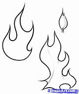 Flames Flame Fire Coloring Pages Draw Drawing Line Printable Stencil Drawings Designs Pattern Tattoos Outline Stencils Simple Patterns Clip Step sketch template